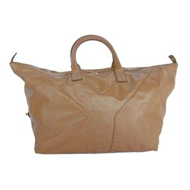 Yves Saint Laurent-Patent Bag-Beige