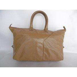 Yves Saint Laurent-Patent Bag-Beige
