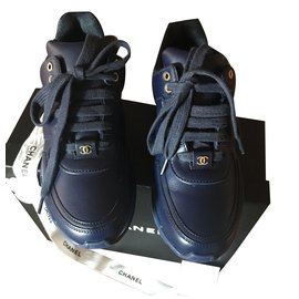 Chanel-Sneakers-Bleu Marine