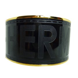 Hermès-Bracelet-Noir,Doré