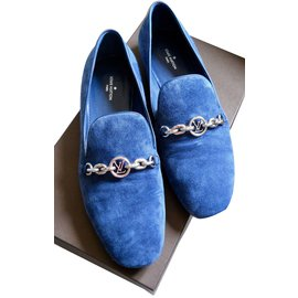 Louis Vuitton-Mocassins-Bleu,Bleu Marine