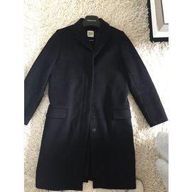 Hermès-Manteau droit masculin-Noir