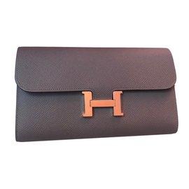 Hermès-Portefeuille Constance-Gris ... 30f0ecd301e
