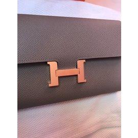 Hermès-Constance Wallet-Grey