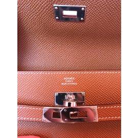 Hermès-Kelly Wallet-Caramel