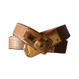 Hermès-Bracelet Kelly lined tour-Caramel