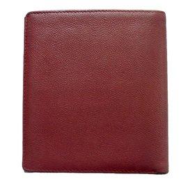 Yves Saint Laurent-Portefeuille vintage-Rouge