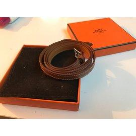 Hermès-Bracelet 4 Tours cuir-Marron