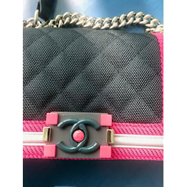 Chanel-Boy-Navy blue