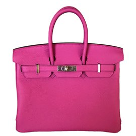 Hermès-Hermes Birkin 25CM Magnolia Togo Leather Palladium-Rose
