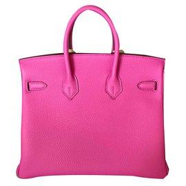 Hermès-Hermes Birkin 25CM Magnolia Togo Leather with Palladium Hardware-Pink