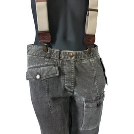 Chanel-overalls-Beige,Dark grey,Caramel