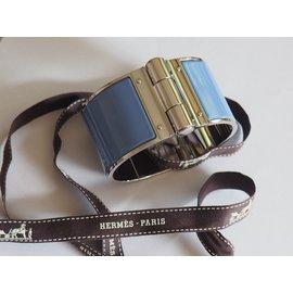 Hermès-BRACELET CHARNIERE HERMES MODELE EXTRA LARGE taille M-Violet