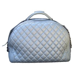 Chanel-Travel bag-Silvery