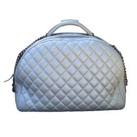 Chanel-Sacs de voyage-Argenté
