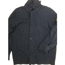 Stone Island-Sweaters-Blue
