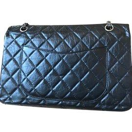 Chanel-Grand sac 2.55 double flap-Noir