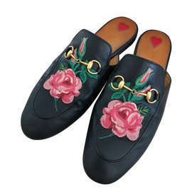 Gucci-Mules Princetown en cuir-Noir