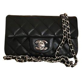 Chanel-extra mini classic flap bag-Noir