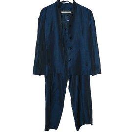 Hussein Chalayan-Tailleur pantalon-Bleu Marine
