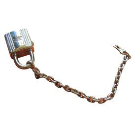 Hermès-KEY RING / BAG JEWELERY-Silvery