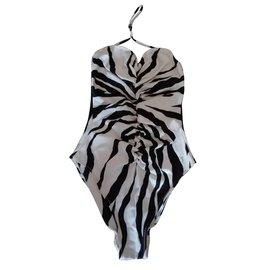 Yves Saint Laurent-Maillot de bain-Noir,Blanc
