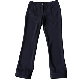 Chanel-Pantalon-Bleu Marine