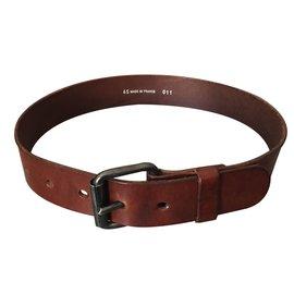 Autre Marque-ceinture cuir Fauve-Bordeaux ... afacf6749f7