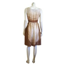 Prada-Dresses-Brown,Beige