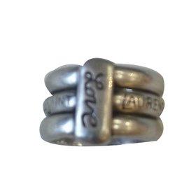 Yves Saint Laurent-Vintage Ring-Silvery