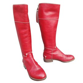 Chloé-Boots-Red