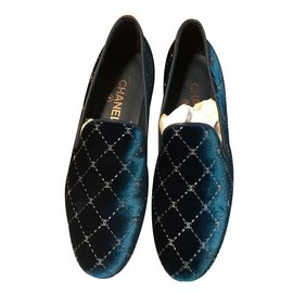 Chanel-loafers-Blue