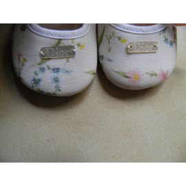 Baby Dior-Chaussons-Blanc