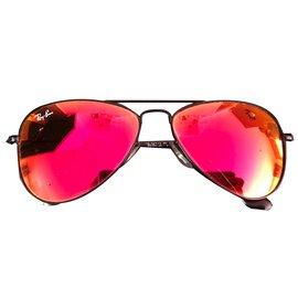 Ray-Ban-Aviator-Noir,Rouge,Orange