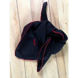 Yves Saint Laurent-Foulard-Noir,Rouge