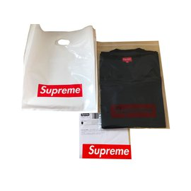 Autre Marque-T-shirt Supreme - Tonal Embroidery Top-Noir