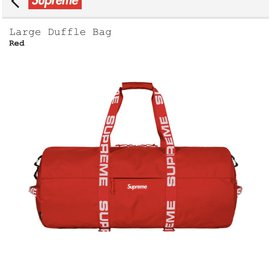 Autre Marque-Sac Supreme – Large Duffle Bag Red-Rouge