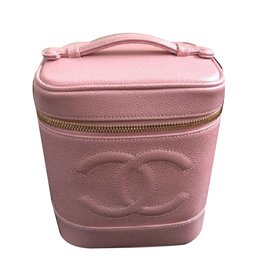 Chanel-CHANEL Beauty Case-Pink