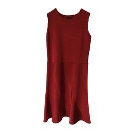 Louis Vuitton-Robe mi longue-Bordeaux