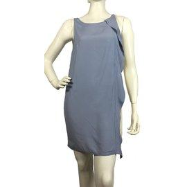 Dondup-Dress-Blue,Cream