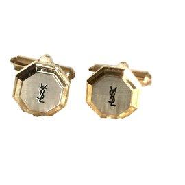 Yves Saint Laurent-Cufflinks-Silvery,Golden
