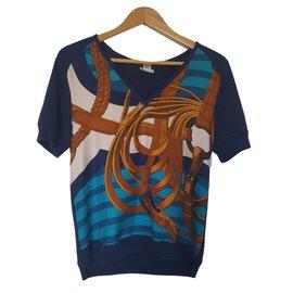 Hermès-Knitwear-Blue