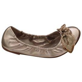 Louis Vuitton-Ballerines-Beige