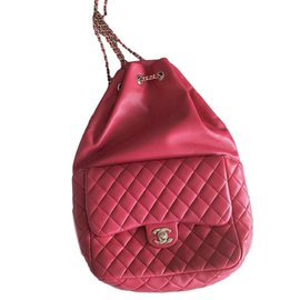 Chanel-Sacs à dos-Rose