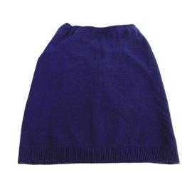 Céline-Jupe-Bleu Marine