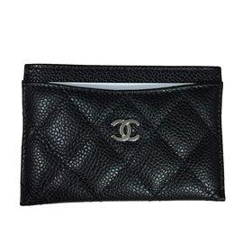 Chanel-Porte-carte-Noir