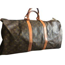 Louis Vuitton-Keepall 55-Marron foncé