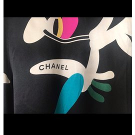 Chanel-Pantalon-Noir,Multicolore