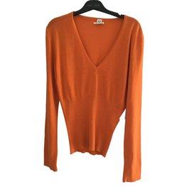 Hermès-Knitwear-Orange