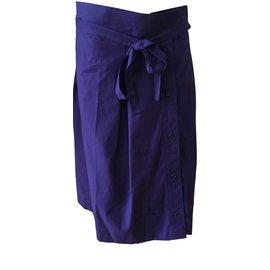 Yves Saint Laurent-Skirts-Navy blue